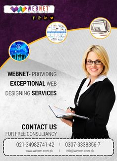 Webnet- Providing Exceptional Web Designing Services.. Contact us : 021- 34982741-42 http://webnet.com.pk info@webnet.com.pk Webnet Pakistan private Ltd's photo.