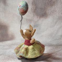 Needle felted Bunny Rabbit by BearCreekDesign
