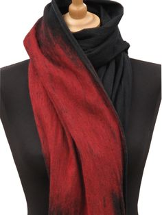 slowlab firenze red felted scarf