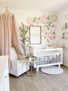 Nursery Wall Decals, Baby Nursery Decor, Baby Bedroom, Baby Decor, Nursery Letters, Baby Nursery Ideas For Girl, Baby Girl Rooms, Vintage Nursery Girl, Garden Nursery