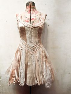 :.a custom dress for miss Solara..*  made from salvaged antique & vintage materials