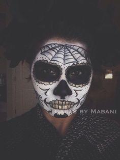 Please vote for this entry in Día de los Muertos Face Painting Contest!