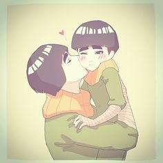 Rock Lee & Metal Lee. IM SO GLAD HE FOUND SOMEONE TO LOVE HIM I WANNA KNOW WHO THE MOM IS