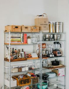Kitchen Pantry goals from 🙌 - Tap image to shop. Bakery Kitchen, Kitchen Dinning, Kitchen Pantry, Kitchen Items, Unfitted Kitchen, Kitchen Racks, Cheap Kitchen, Dining, Ikea Kitchen Shelves