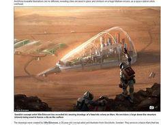 Así colonizará la humanidad Marte según una artista sueca