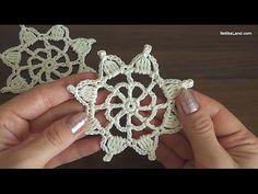 Crochet motif3/crochet doily/ Part 1/ Уроки вязания крючком. - YouTube