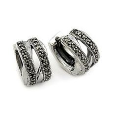 Double Twisted Marc Huggie Sterling Silver Earrings Shop4Silver. $38.00. Approximate Length: 13 MM (0.51 INCHES). Approximate Width: 7 MM (0.27 INCHES)