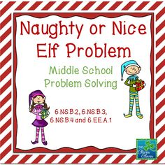 This elf problem was created based on the locker problem. Students must determine between four elves who was the nicest, 2nd nicest, 3rd nicest and naughtiest. Depending on my class, I vary the level of assistance. Some students will be able to persevere in solving this problem and will only receive the initial problem. Other students will need some guidance in solving the problem. I have provided three additional pages to use if students need some problem solving guidance.