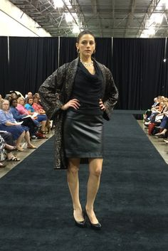Butterick coat B5906 by Katherine Tilton paired with McCall's M3341 skirt. As seen at the 2014 American Sewing Expo.