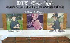 DIY Photo Gift #fathersday #gift #DIY #photo #craft #modpodge