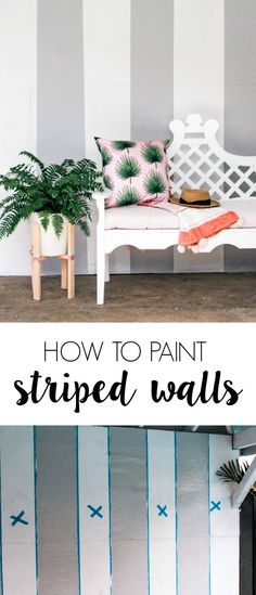 to Paint Perfect Stripes how to paint perfect stripes on a wall. Simple tips for preventing bleeds, using painters tape. How to make a cute grey vertical striped wall.how to paint perfect stripes on a wall. Simple tips for preventing bleeds, using painter Vintage Wallpaper, Zebra Wallpaper, Wallpaper Free, Bedroom Wallpaper, Striped Walls Bedroom, Striped Accent Walls, Vertical Striped Walls, Striped Painted Walls, Blue Walls