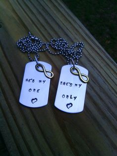 Hand Stamped Necklace with charm Father's Day by TheSassiStamper, $22.00