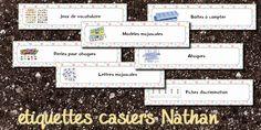 La maternelle de Laurène: étiquettes casiers Nathan