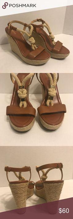 "New Michael Kors Holly Espadrille Wedge Sandal Michael Kors Wedge Sandal size 9// new with out box in excellent condition   Heel-4.5"" Michael Kors Shoes Espadrilles"