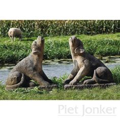 Paar natuurstenen honden