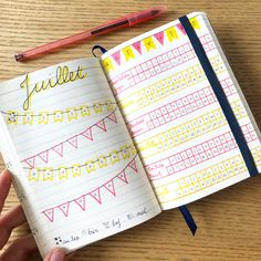 Mood tracker et activity tracker bujo juillet A6 Bullet Journal A6, Mood Tracker, Bujo, Activities, Illustration, Illustrations