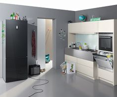 Flush fit design, built in Siemens oven, microwave & warming ...