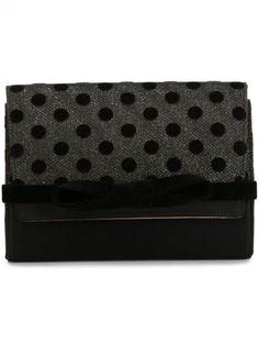 JIMMY CHOO 'Bow' Clutch. #jimmychoo #bags #velvet #clutch #hand bags #silk #glitter #cotton #