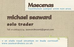 this is a sample card n055 and can be set up with your details www.seawardnews2.co.uk