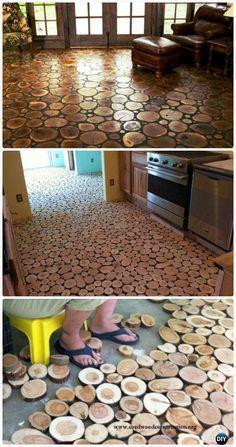 Do it yourself floors diy home decor pinterest tutorials diy wood log flooring instructions diy flooring ideas low cost inexpensivewoodworkingprojects solutioingenieria Choice Image