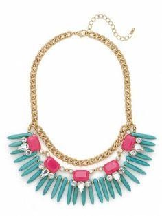 neon bib necklace $36