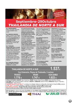 Thailandia de Norte a Sur y Ext. Playas Sept-29Octubre 1.537€ Tasas Incluidas Thai - http://zocotours.com/thailandia-de-norte-a-sur-y-ext-playas-sept-29octubre-1-537e-tasas-incluidas-thai/