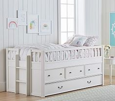 Blythe Captains Bed - twin with Trundle bed Girl Room, Girls Bedroom, Bedrooms, White Kids Bed, Kids Mattress, Bunk Beds With Storage, Captains Bed, House Beds, Kids Room Design