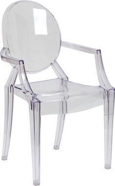 Ghost Chair with Arms in Transparent Crystal, FH-124-APC-CLR-GG by Flash Furniture | BizChair.com