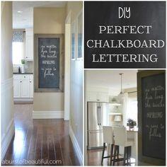 DIY Perfect Chalkboard Lettering #diy #dan330 http://livedan330.com/2015/05/26/diy-perfect-chalkboard-lettering/