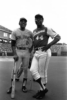 Willie Mays (Mets) and Hank Aaron (Braves)