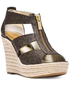 MICHAEL Michael Kors Damita Platform Wedge Sandals - Sandals - Shoes - Macy's