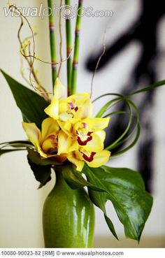 Image detail for -Japanese flower arrangement with Orchids in a vase. [10080-90023-82 ...