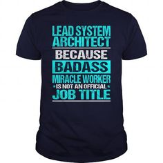 LEAD SYSTEM ARCHITECT Because BADASS Miracle Worker Isn