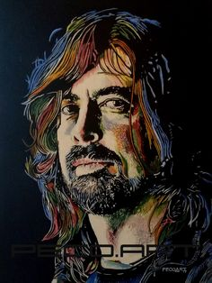 Dave Grohl by Peco Art ...Oil on canvas, 50x65cm...