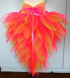 Bird of Paradise Fantasy Tutu with stunning Tail. Carnival/Dance/Festival/Dance