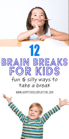 12 super silly and fun brain breaks for kids that will get them moving and giggling! Try these simple ideas to give your kindergartner a fun break! Kids Learning Activities, Toddler Activities, Movement Preschool, Boredom Busters For Kids, Toddler Playroom, Fun Brain, Brain Breaks, Kids Health, Business For Kids