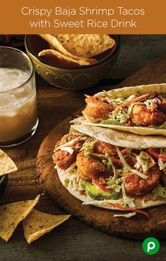 The Baja Shrimp may not know who let the dogs out but they do know that finely chopped cilantro, avocado and peeled shrimp will have your party guests begging for more Crispy Baja Shrimp Tacos. Happy Cinco de Mayo from Publix Aprons Simple Meals. Fish Recipes, Seafood Recipes, Mexican Food Recipes, Great Recipes, Cooking Recipes, Favorite Recipes, Healthy Recipes, Seafood Meals, Seafood Salad