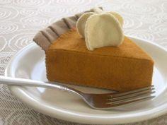 Felt Play Food  Pumpkin Pie Slice by katiemadegoods on Etsy