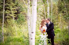 Such a lovely, #intimate #weddingportrait of the #mrandmrs! ::Amanda + Mark's summer wedding amongst the trees in Colorado:: #olascouple #couple #portraiture
