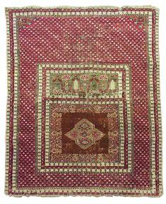 Antique Turkish Ghiordes rug, 19th century