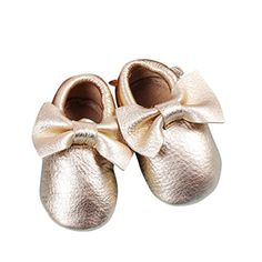 Bow Leather Baby Moccasins for Boy Girl Infant Toddler Pre-walker Crib Shoe (S (5.1 Inches), Gold) Unique Baby http://www.amazon.com/dp/B00VS1H1BG/ref=cm_sw_r_pi_dp_iVsdwb0QDE8TE