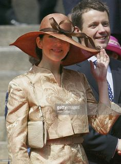Mary Donaldson and Danish Crown Prince Frederik leave the Danish Parliament May 13, 2004 in Copenhagen, Denmark. Mary Donaldson and Prince Frederik attended a reception at Parliament prior to their wedding, planned for this Friday.