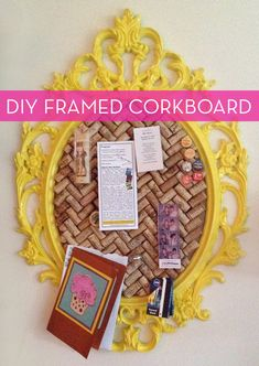 #DIY corkboard with a picture frame and wine corks! (i would probably just make it with regular corkboard back!)  http://www.pinterest.com/ahaishopping/