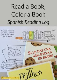Spanish reading progress sheet to print and color. This reading log helps kids visualize what they have read. Each time they finish a book, they color a book in the drawing.