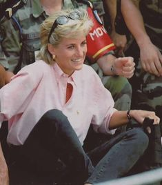 August 10, 1997: Diana, Princess of Wales visisted landmine victims in Sarajevo, Bosnia.