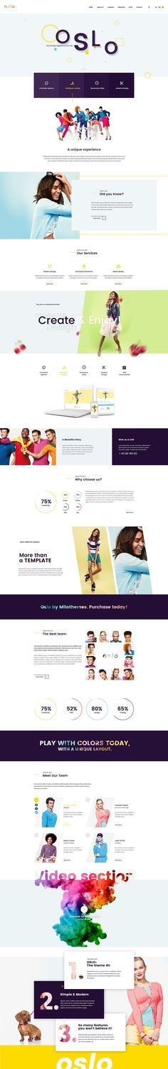 A modern design, an original concept with unique elements: This is Oslo, the brand new HTML5 Theme from VERTIQAL TEAM. Combining bright colors with a clean design, Oslo is perfect to make your business pop out. This theme is also suited for a creative age…