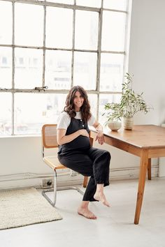 Simple linen basics that will redefine the essentials in your wardrobe to become your new uniform. These nursing friendly classic women's pieces are sustainably made in Los Angeles. Ethical Fashion, Floor Chair, Breastfeeding, Charcoal, Overalls, Pregnancy, Shopping, Collection, Home Decor