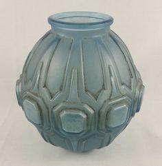 Art Deco Belgian VAL SAINT LAMBERT VSL Small Glass Vase Signed #ArtDeco #ValSaintLambert