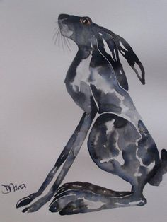 Moongazing Hare - by Dawn Barker