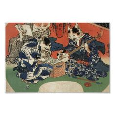 The Cat People Japanese art Print SOLD, thank you!